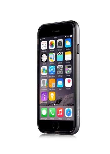 Сребриста защитна рамка Devia Fresh за iPhone 6