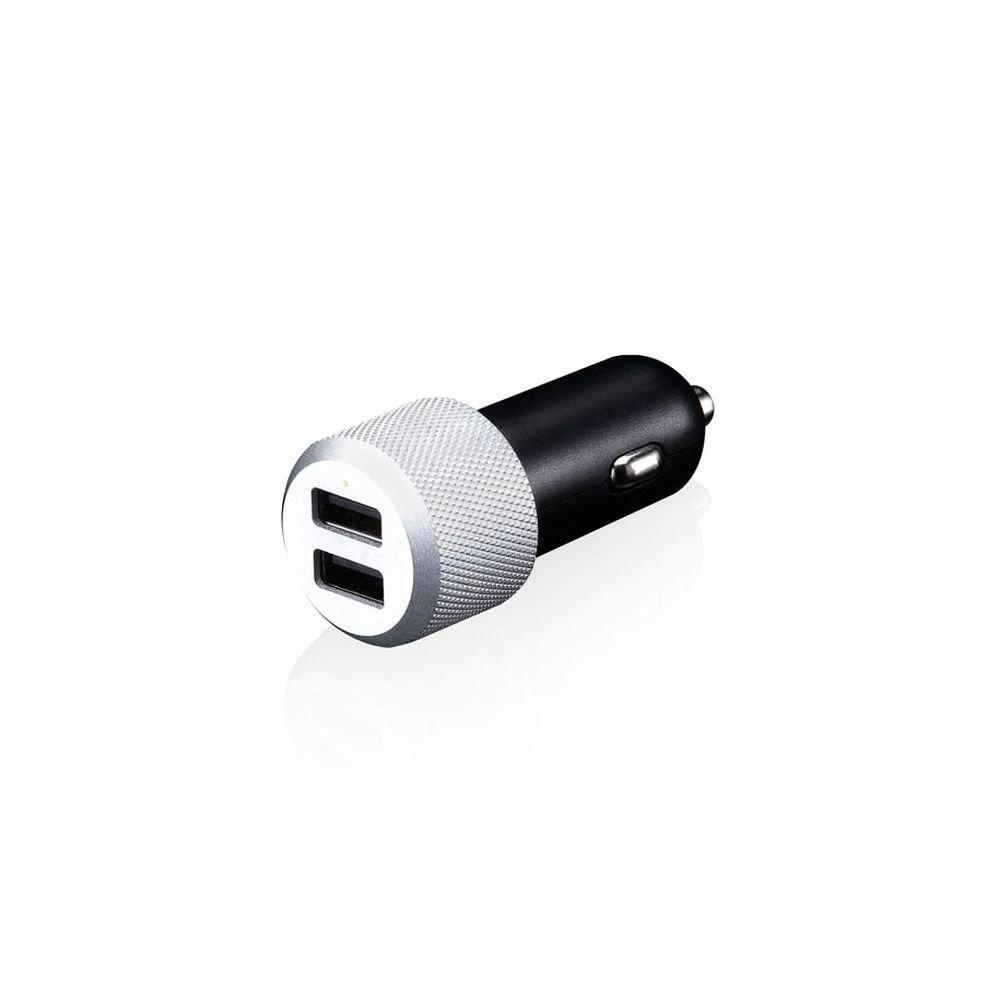 Зарядно устройство за автомобил Hihway Max от Just Mobile в черно и сребристо