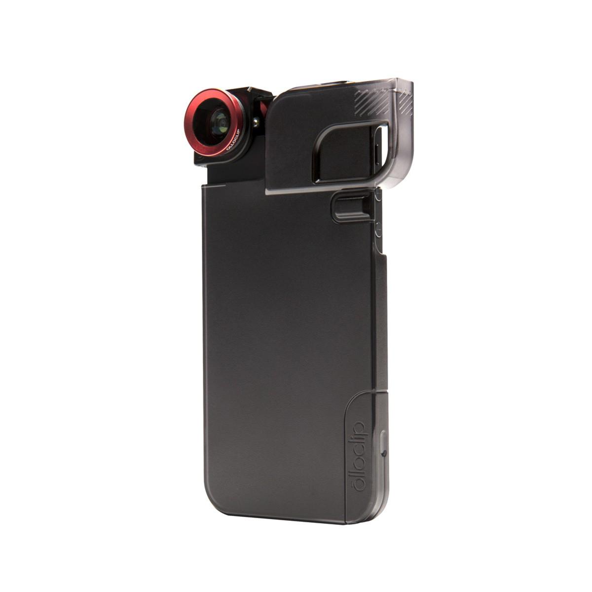 Черен кейс Olloclip за Apple iPhone 5/5s с оригинален обектив 3 в 1