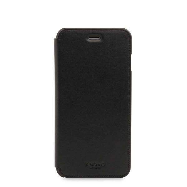 Черен кейс с капаче Leather Folio от Knomo за смартфон Apple iPhone 7 Plus
