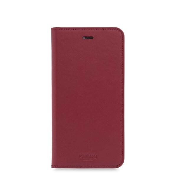 Червен кейс с капаче Premium Folio от Knomo за смартфон Apple iPhone 7 Plus