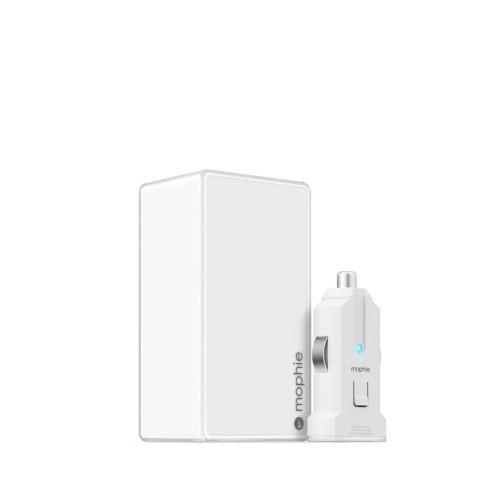 Бяло зарядно за кола Mophie Micro USB Combo Wall-Car 4,2A