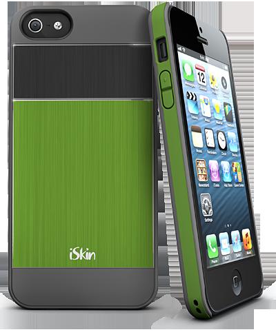 Ултратънък подсилен зелен кейс iSkin за Apple iPhone 5
