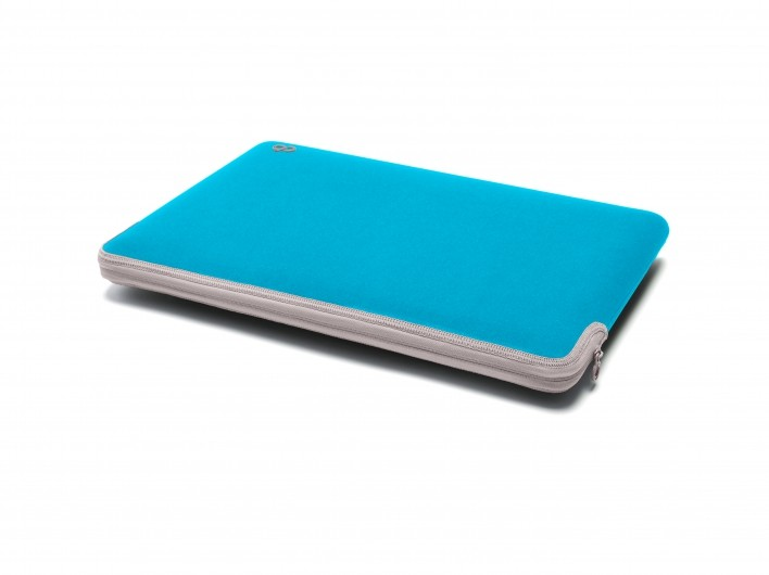 """Светлосин неопренов калъф C6 за Apple MacBook 12"""" със сив цип"""