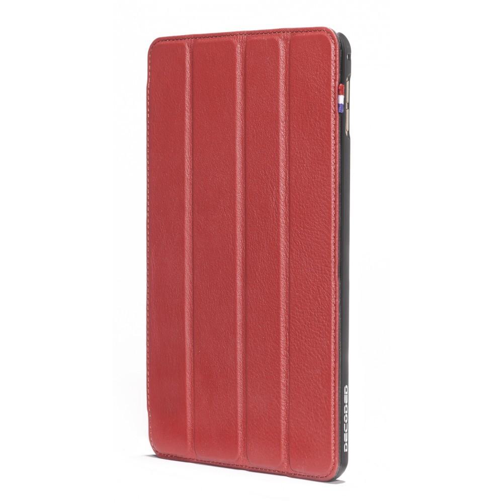 Червен тънък кожен калъф Decoded за iPad mini 4