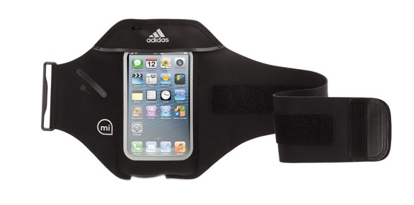 Черен неопренов калъф за ръка Griffin Adidas miCoach за Apple iPhone 5/5s/5c
