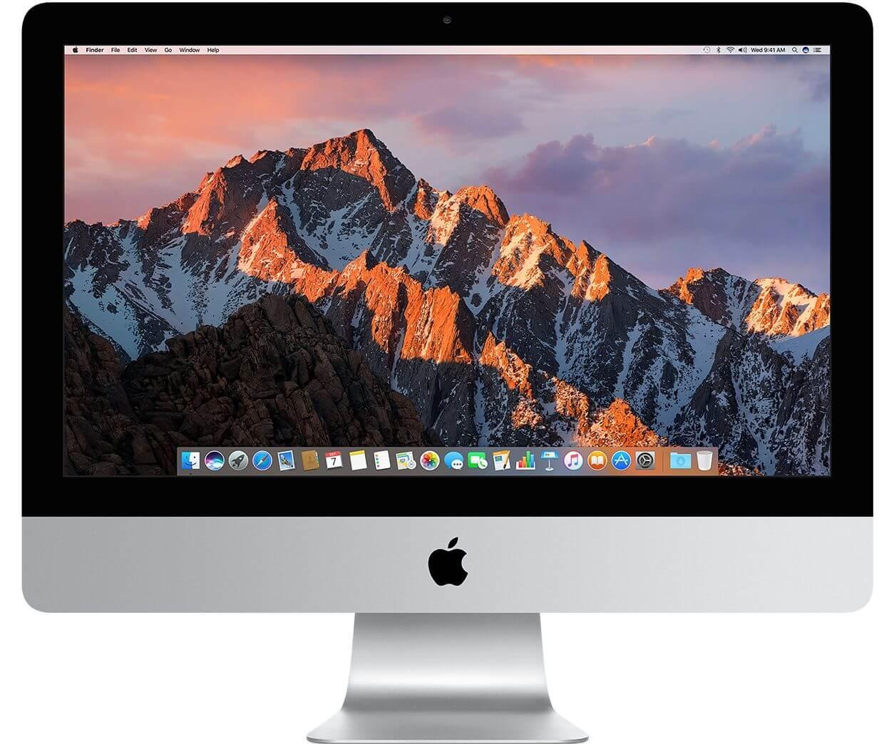 """Настолен компютър Apple iMac 21,5"""" с 2.3GHz двуядрен Intel Core i5 процесор и 8GB памет - международна клавиатура"""