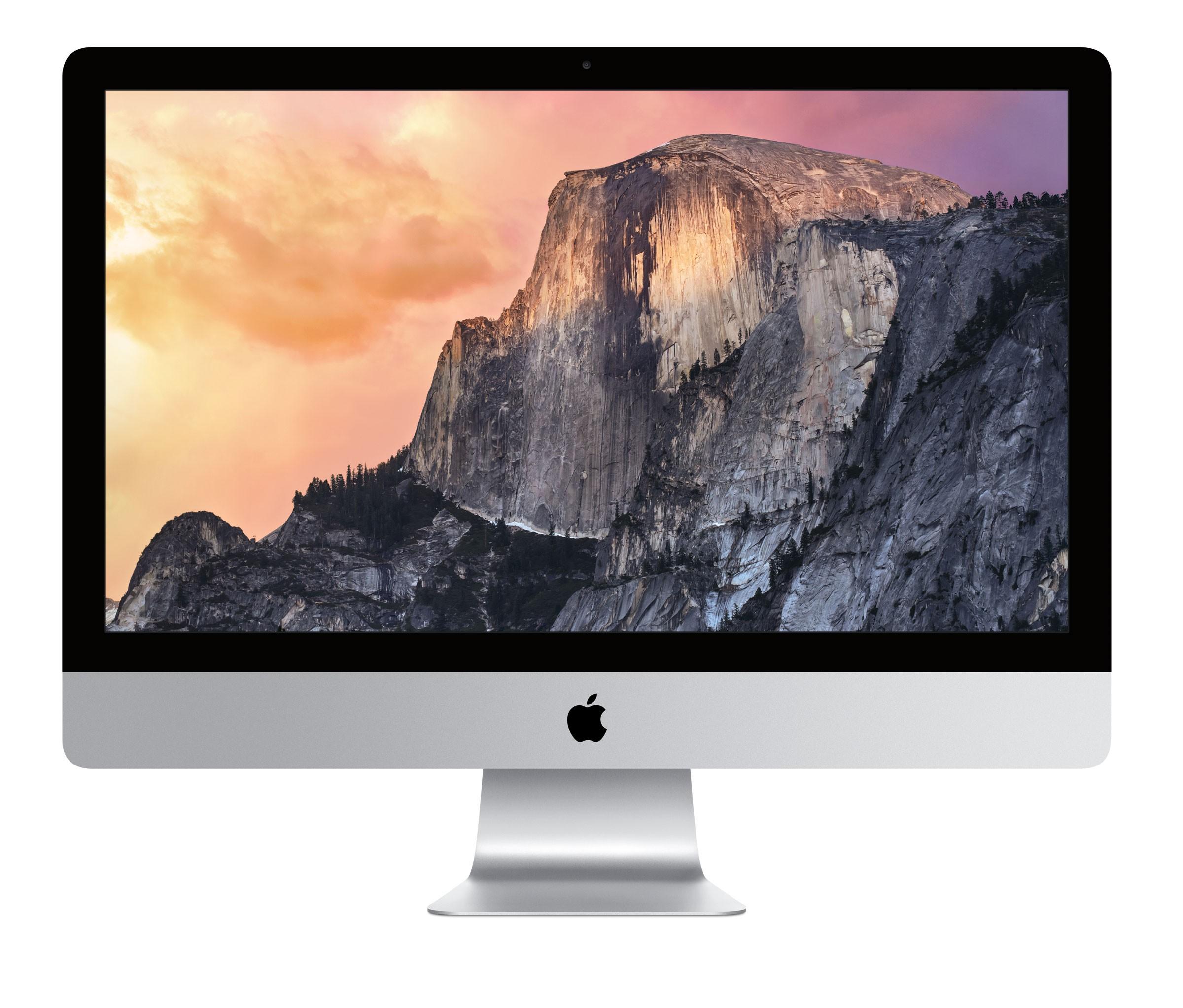 """Настолен компютър iMac 27"""" с четириядрен процесор i5 3,3GHz с Retina 5K, памет 8GB/1TB, AMD M290 2GB - международна клавиатура"""
