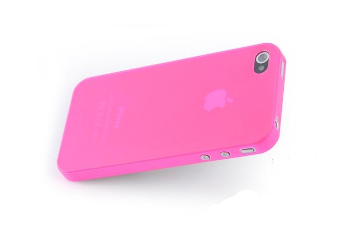 Розов ултратънък кейс Pinlo Apple за iPhone 4/4s