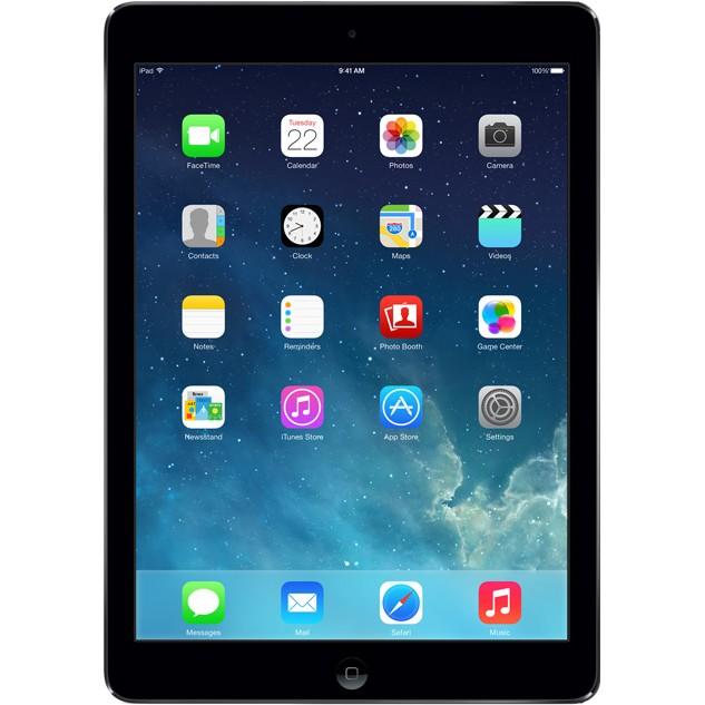 "Таблет Apple iPad Air с 9.7"" дисплей и Wi-Fi 16GB - тъмносив цвят"