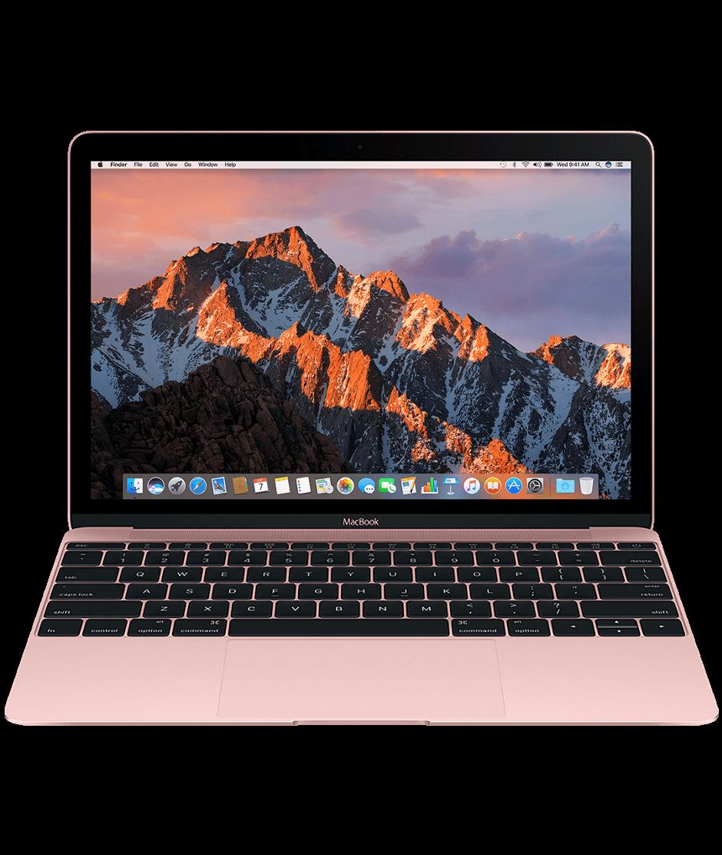 "Светлорозов лаптоп Apple MacBook"" с двуядрен 1,2GHz Intel Core m3 процесор, 256GB SSD памет - българска клавиатура"