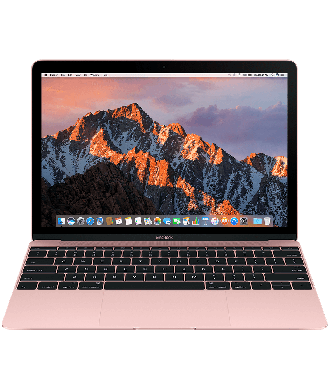 "Светлорозов лаптоп Apple MacBook"" с двуядрен 1,3GHz Intel Core i5 процесор, 512GB SSD памет - българска клавиатура"