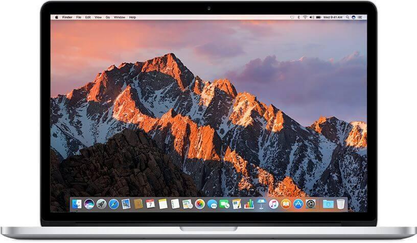 "Лаптоп MacBook Pro 15"" Retina дисплей, четириядрен процесор i7 2,2GHz, памет 16GB/256GB SSD, Intel Iris - международна клавиатура"