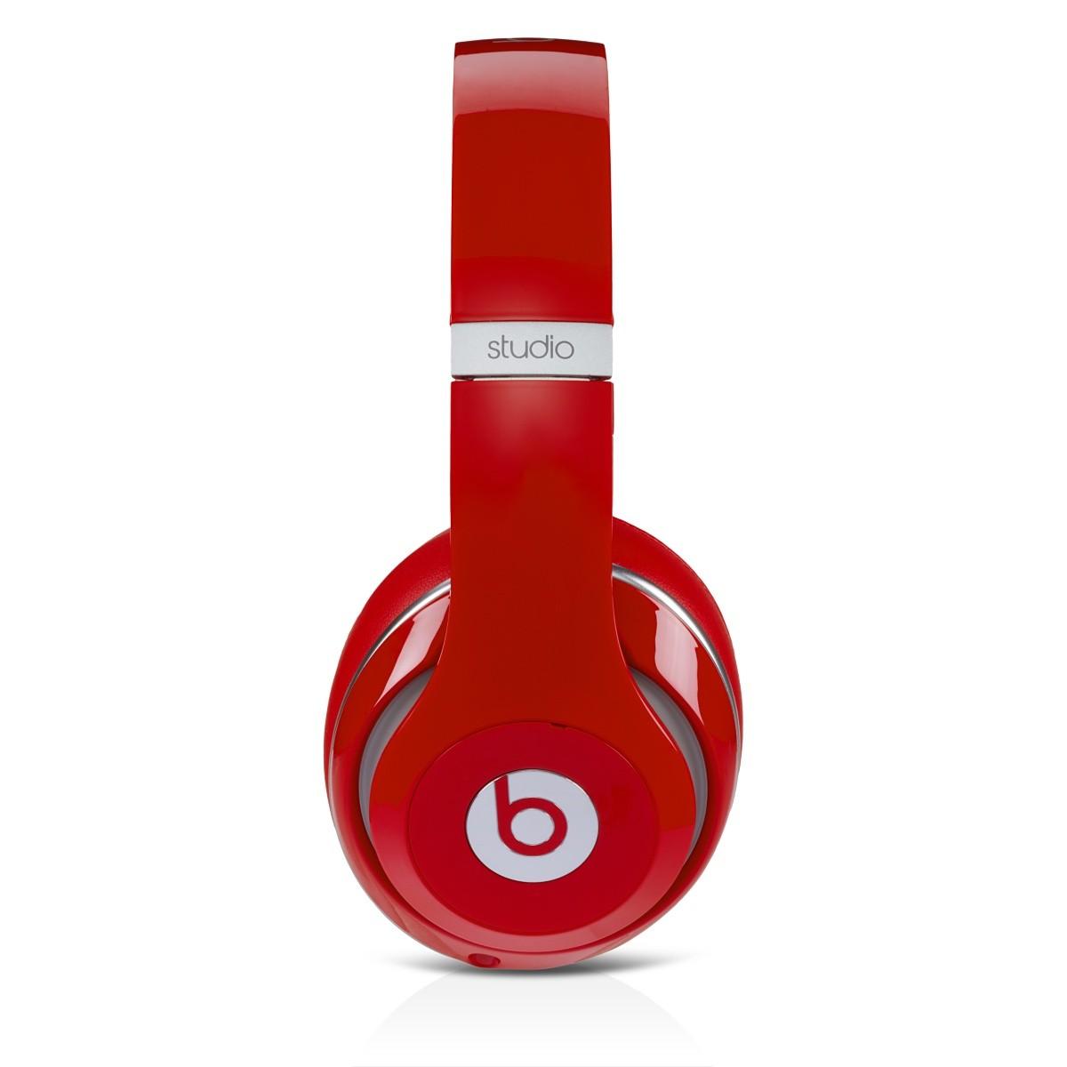 Beats Studio 2.0 Over-Ear червени слушалки с рамка и наушници, обхващащи ухото