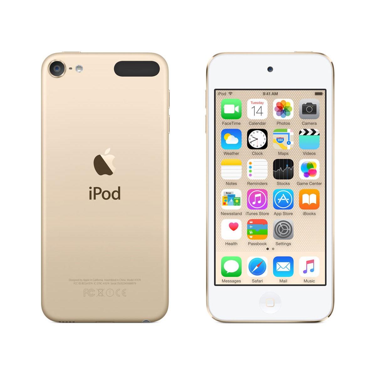 Златист Apple iPod touch плейър 16GB 6-то поколение
