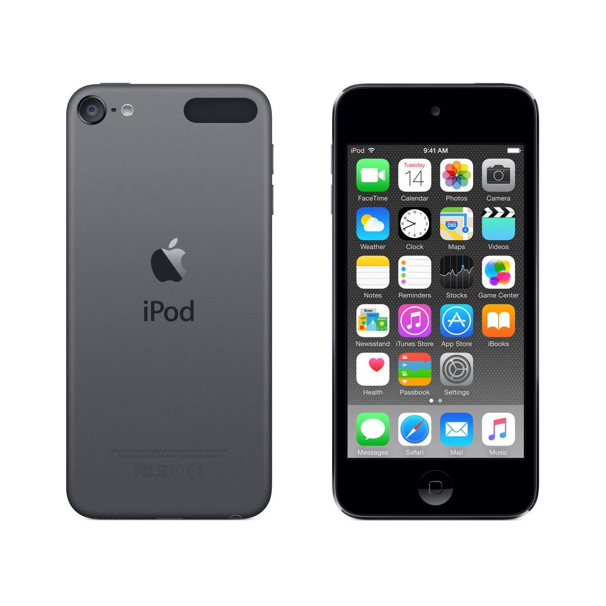 Тъмносив Apple iPod touch плейър 64GB 6-то поколение