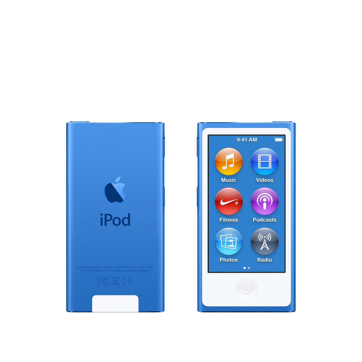 Син Apple iPod nano плейър 8-мо поколение с 16 GB памет