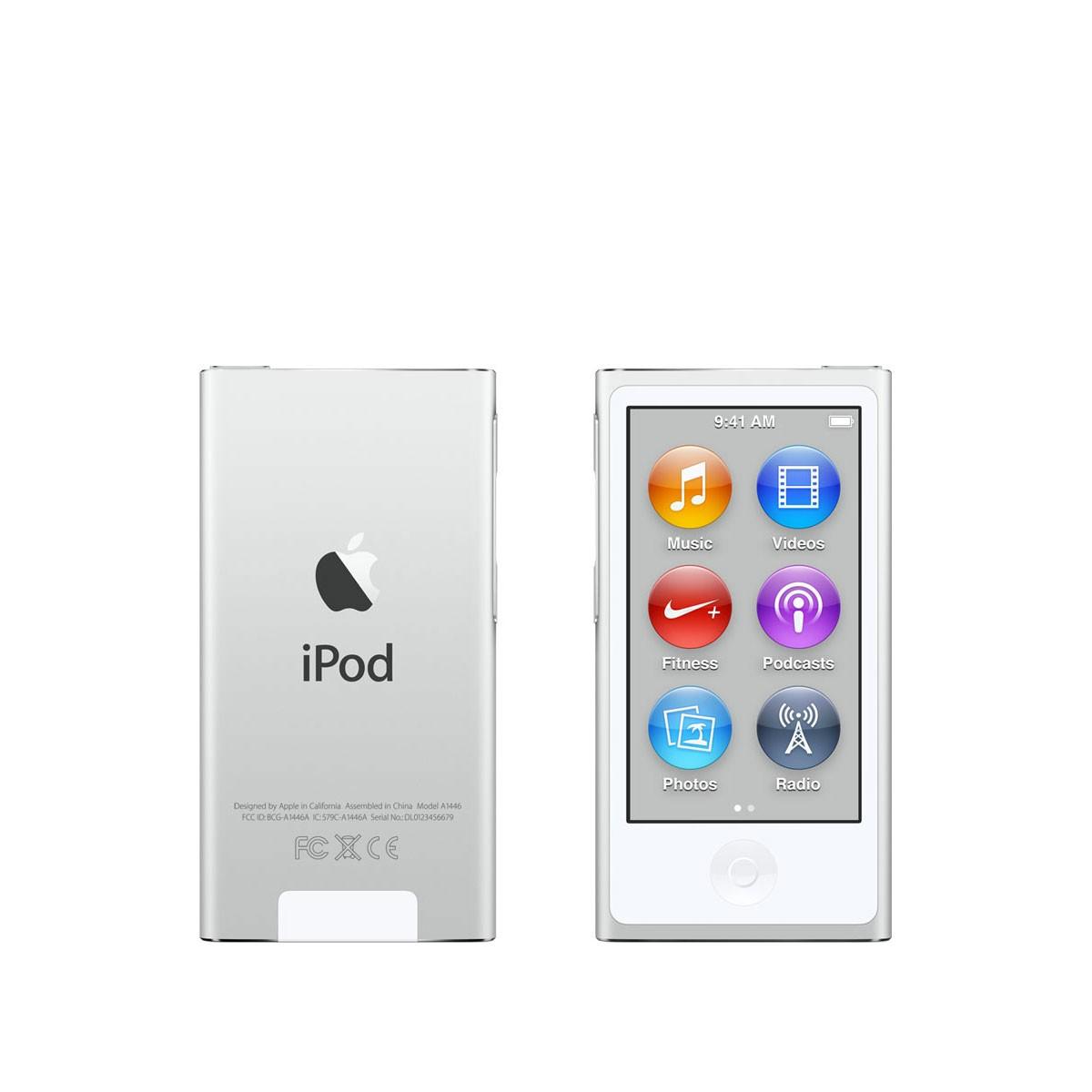 Сребрист Apple iPod nano плейър 8-мо поколение с 16 GB памет