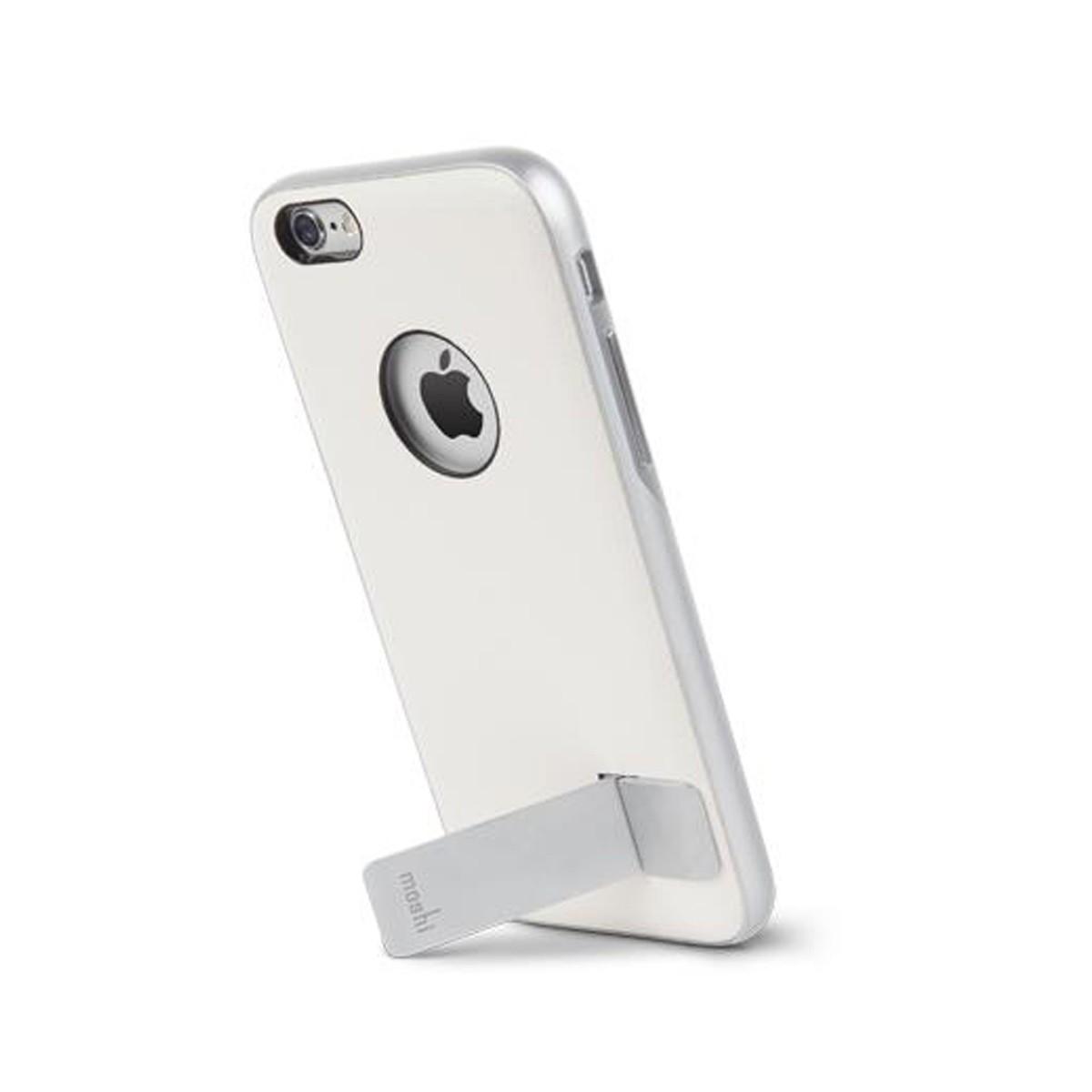 Бял кейс Kameleon с алуминиева стойка за Apple iPhone 6 от Moshi