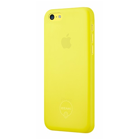 Жълт ултратънък кейс Ozaki за Apple iPhone 5C