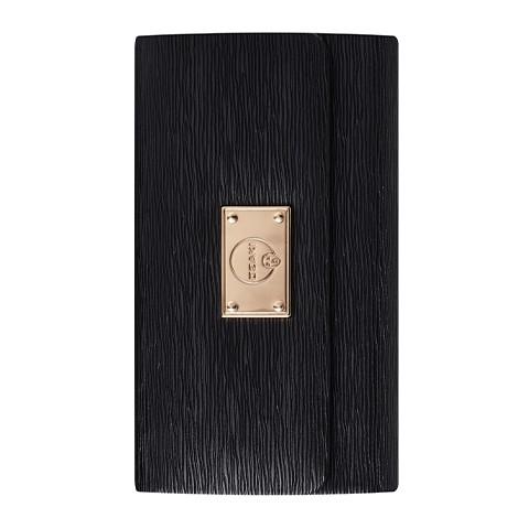 Черен кожен калъф тип портфейл Ozaki за Apple iPhone 5/5C/5S