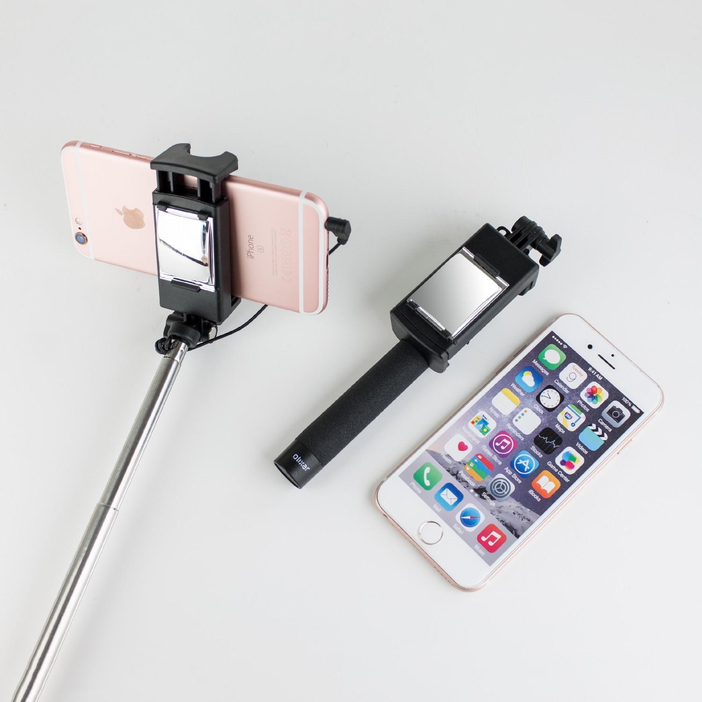 Компактен селфи стик Olixar с огледало за смартфон с ширина 55/90 мм
