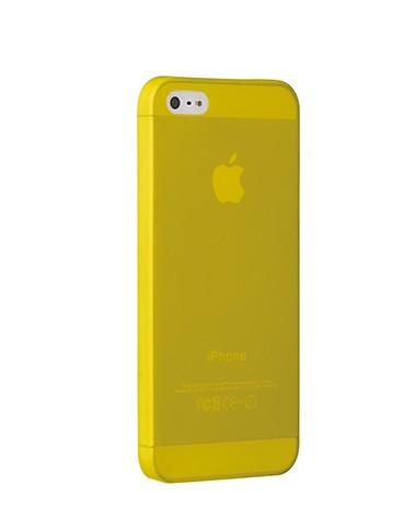 Тънък жълт пластмасов кейс Ozaki O!coat 0.3 Jelly за Apple iPhone 5/5S/SE