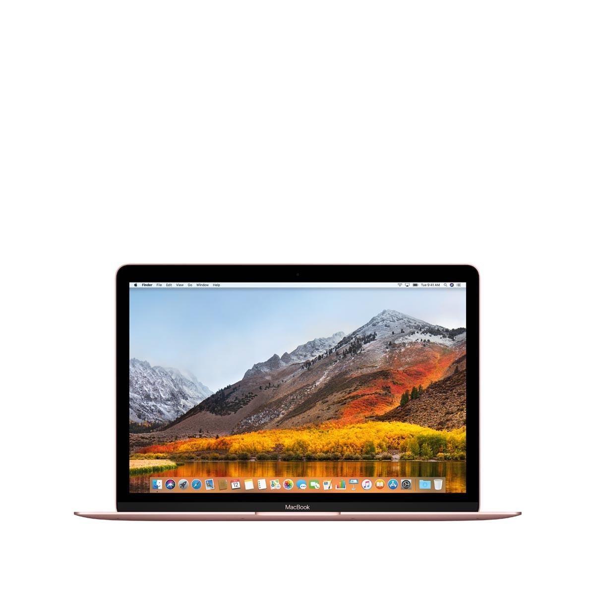 "Светлорозов лаптоп Apple MacBook"" с двуядрен 1,3GHz Intel Core i5 процесор, 512GB SSD памет - международна клавиатура"