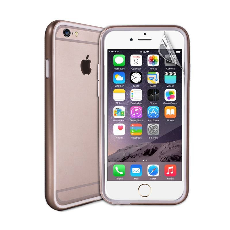 Златист защитен бъмпер на Puro за iPhone 6