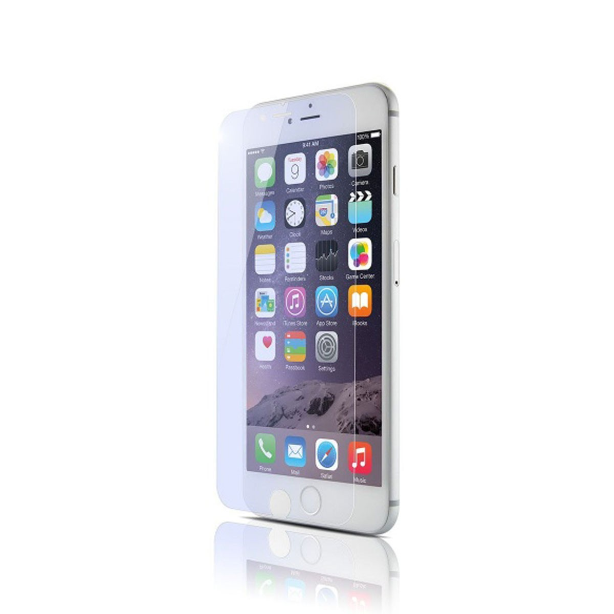 Син протектор QDOS OptiGuard Flexi Blue за iPhone 6
