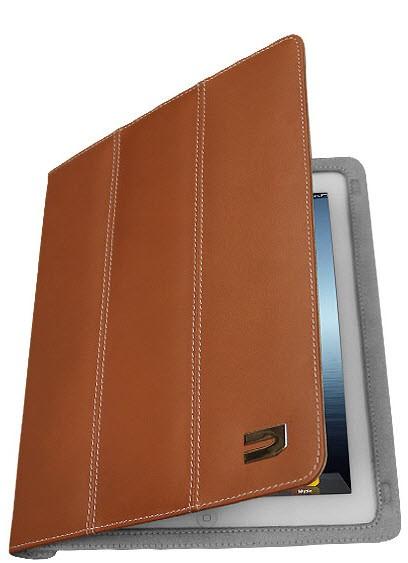 Ултратънък бежов кожен калъф тип папка на Urbano за iPad mini и mini 2