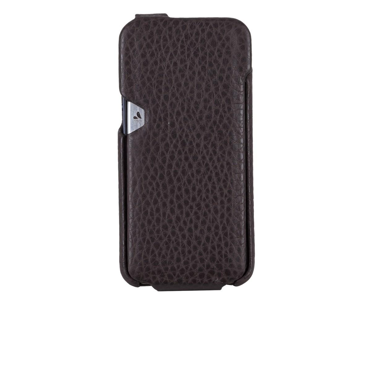 Тъмнокафяв кейс Vaja за Apple iPhone 5/5s от естествена кожа