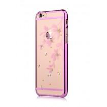 Розов защитен кейс Devia Flowery за iPhone 6