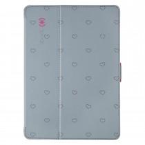 Сив защитен кейс за таблет iPad Air на Speck с розови елементи