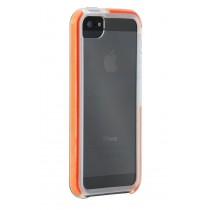 Прозрачен кейс със сиви и оранжеви кантове Tech 21 за Apple iPhone5/5s за максимална защита против удар