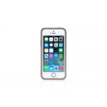 Златиста защитна рамка Just Mobile AluFrame за iPhone 5/5s/SE