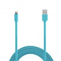 Aiino Lightning cable MFI Flat (1.2m) - Blue