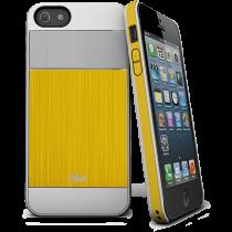 Ултратънък подсилен жълт кейс iSkin за Apple iPhone 5