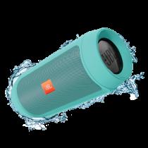 Водоустойчива портативна колонка JBL с вграден микрофон и батерия за зареждане на мобилни устройства