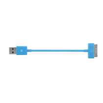 Incase Sync & Charge cable 6inch - Fluro Blue