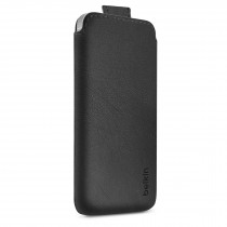 Черен луксозен кожен калъф Belkin за Apple iPhone 5C