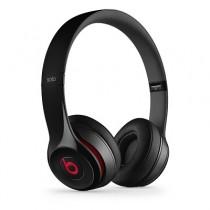 Beats Solo2 On-Ear черни слушалки с рамка и наушници с размер на ухото