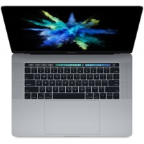 "Тъмносив лаптоп Apple MacBook Pro 15"" Space Grey с Retina дисплей, Touch Bar с интегриран Touch ID сензор, четириядрен Intel Core i7 процесор, памет 512GB - международна клавиатура"