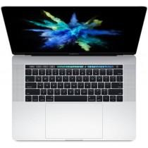 """Сребрист лаптоп Apple MacBook Pro 15"""" с Touch Bar с интегриран Touch ID сензор, четириядрен Intel Core i7 процесор, памет 256GB - международна клавиатура"""