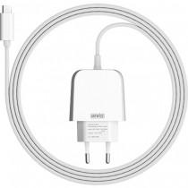Бяло зарядно устройство Artwizz PowerPlug с USB-C кабел (2м)