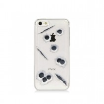 Зашитен кейс Tucano с клипс за iPhone 5c и шарка с дупки от куршуми