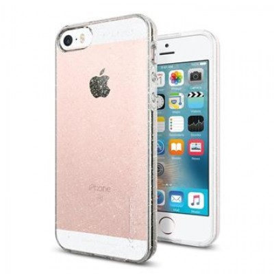 Spigen Liquid Air Glitter - kryt pro iPhone SE/5s/5 - průhledný s třpytkami