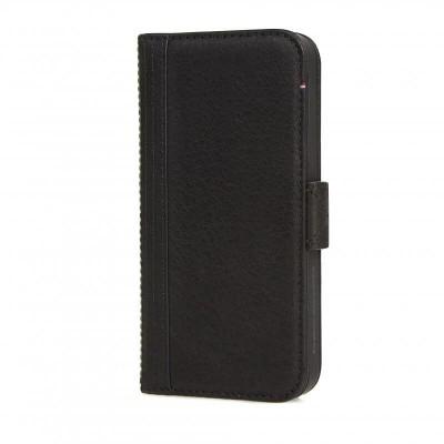 Decoded kožené pouzdro - typ kniha, iPhone SE - černé