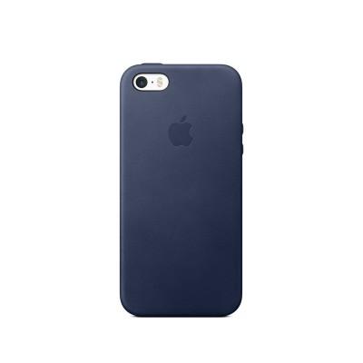 Kožený kryt na iPhone SE - půlnočně modrý mmhg2zm/a