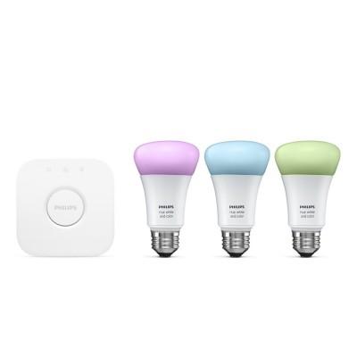 Startovací sada systému Philips Hue pro bílé a barevné náladové osvětlení E27